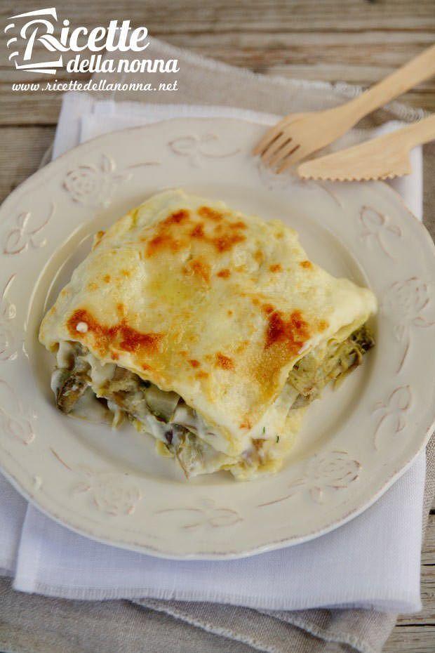 Foto lasagna ai carciofi