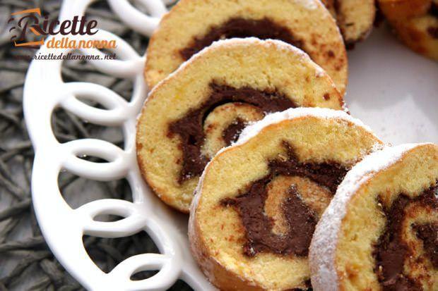 Rotolo alla Nutella ricetta e foto