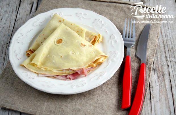 Ricetta crepes prosciutto e formaggio