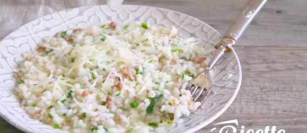 Risotto salsiccia, spinaci e Asiago