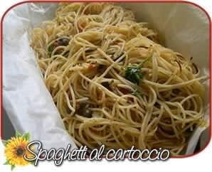 spaghetti capperi cartoccio