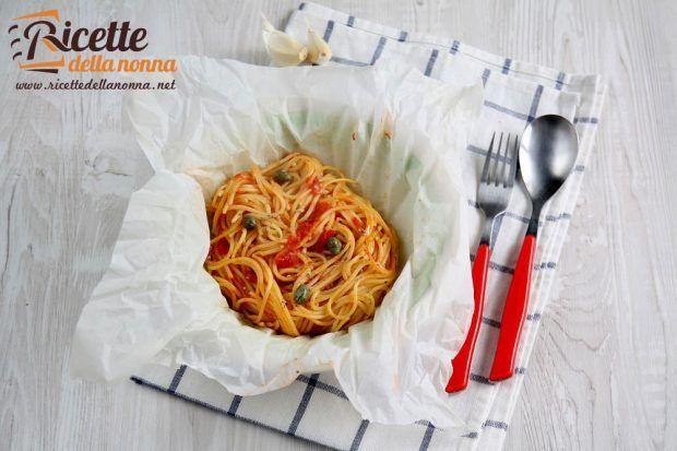 Spaghetti al cartoccio ricetta e foto