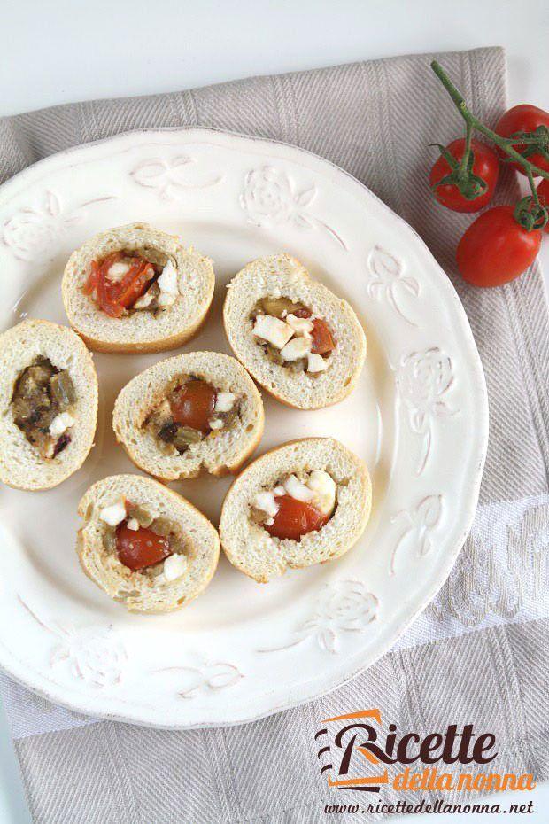 Baguette ripiena alle melanzane ricetta e foto