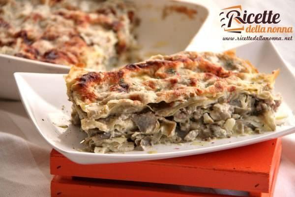 Lasagna carciofi e salsiccia