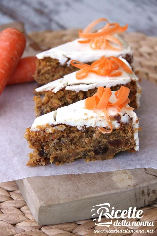 Torta carote e noci ricetta e foto