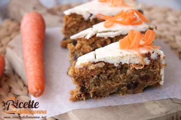 Torta alle carote e noci