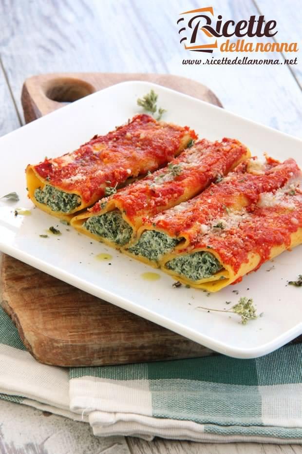 Cannelloni ricotta e spinaci ricetta e foto