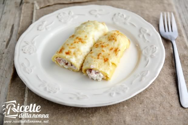 Cannelloni ricotta e prosciutto cotto
