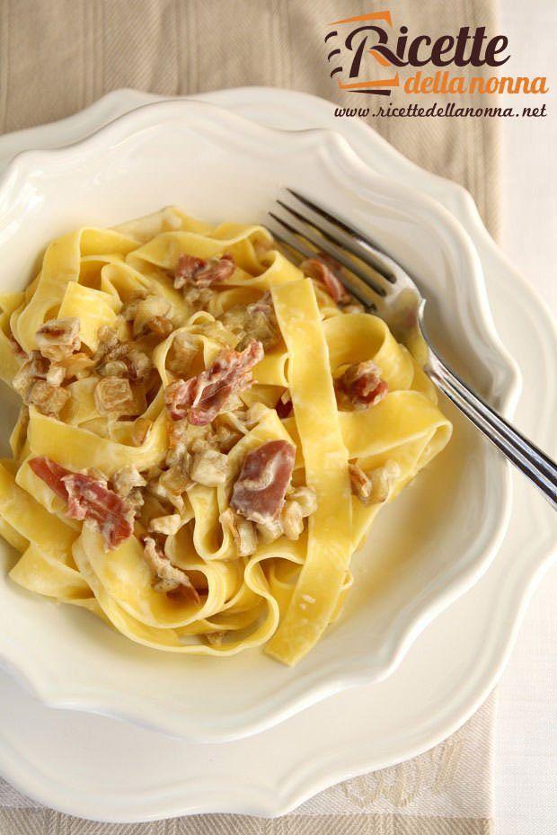 ricetta pasta con crema di stracchino e speck