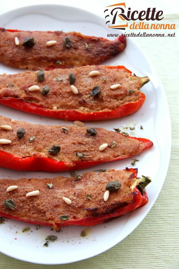 Peperoni ripieni di tonno ricetta e foto