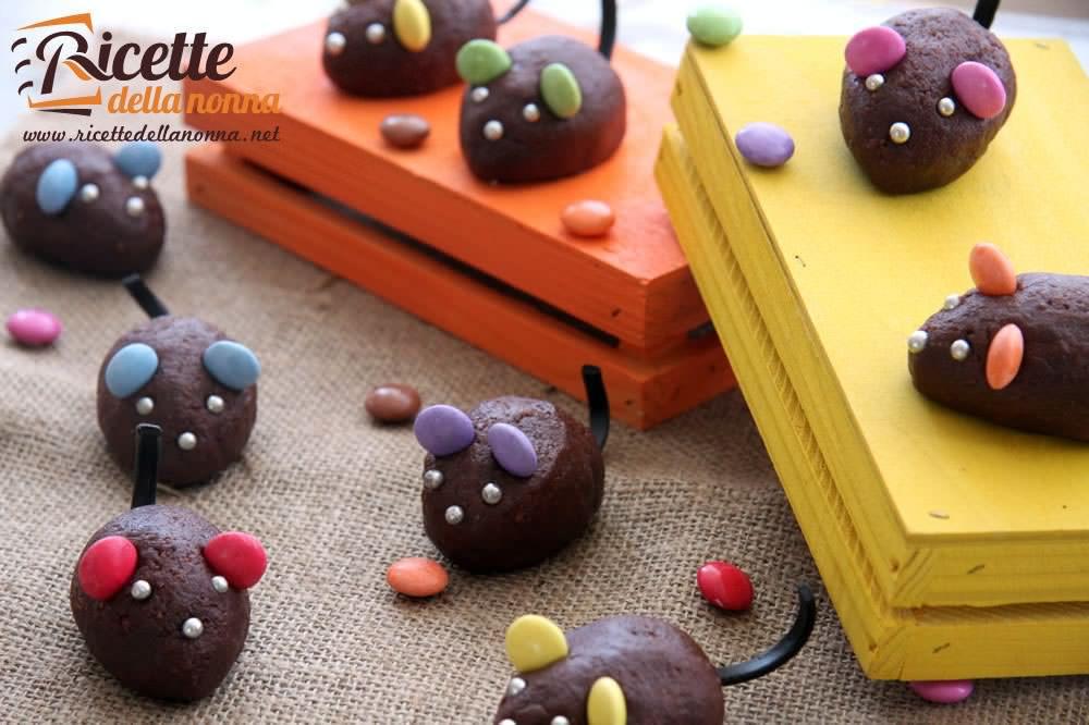Topini al cioccolato di Halloween