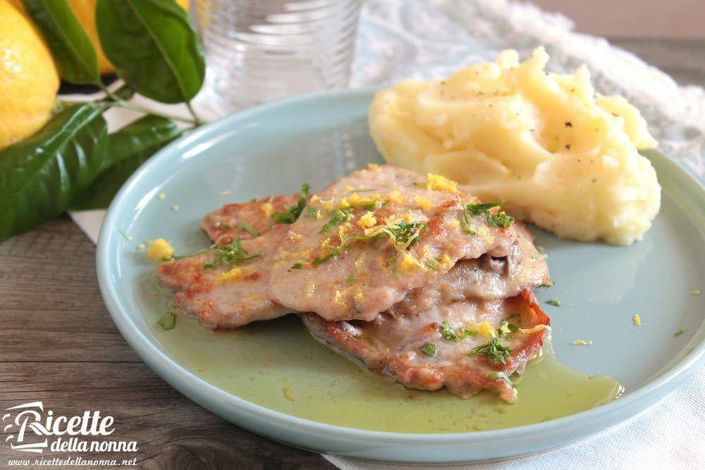 Scaloppine al limone ricetta e foto
