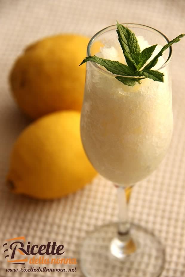 Sorbetto al limone ricetta e foto