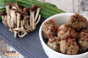 Polpette funghi e zucchine