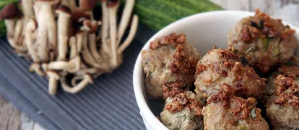 ricette polpette funghi zucchine