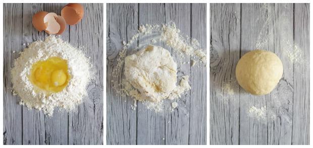 Preparazione pasta all'uovo fatta in casa
