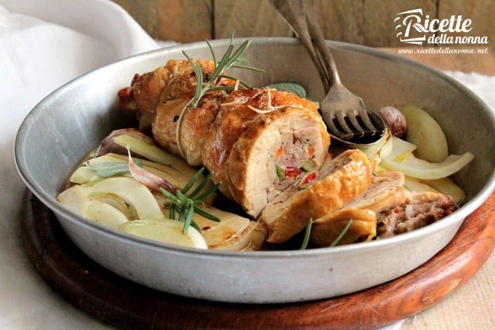 Arrosto di pollo ripieno ricetta e foto