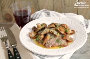 Scaloppine di vitello ai porcini