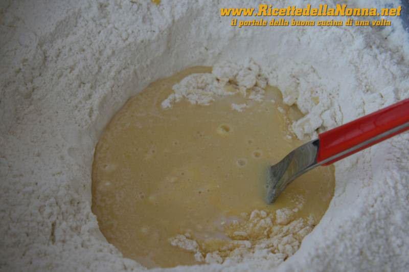 La fontana di farina con le uova