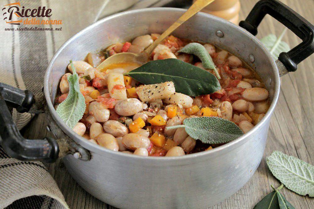 Fagioli con le cotiche ricette della nonna for Piatto tipico romano
