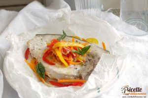Pescespada al cartoccio con verdure