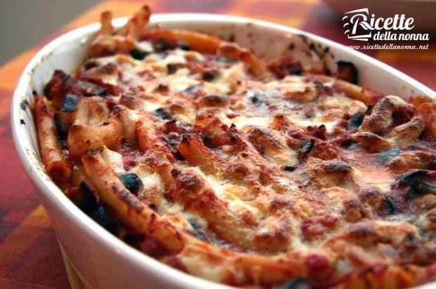 ziti forno melanzane pasta