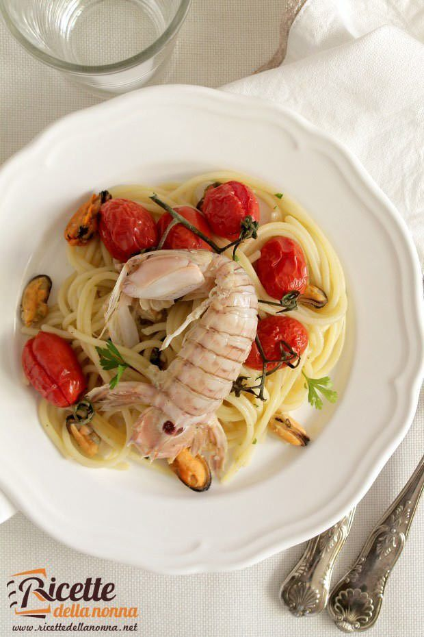 Spaghetti cozze e cicale foto e ricetta
