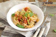 Lasagnette zucchine, pomodorini e cipolletta fresca
