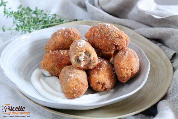 Polpette di salmone con panna acida ricetta e foto