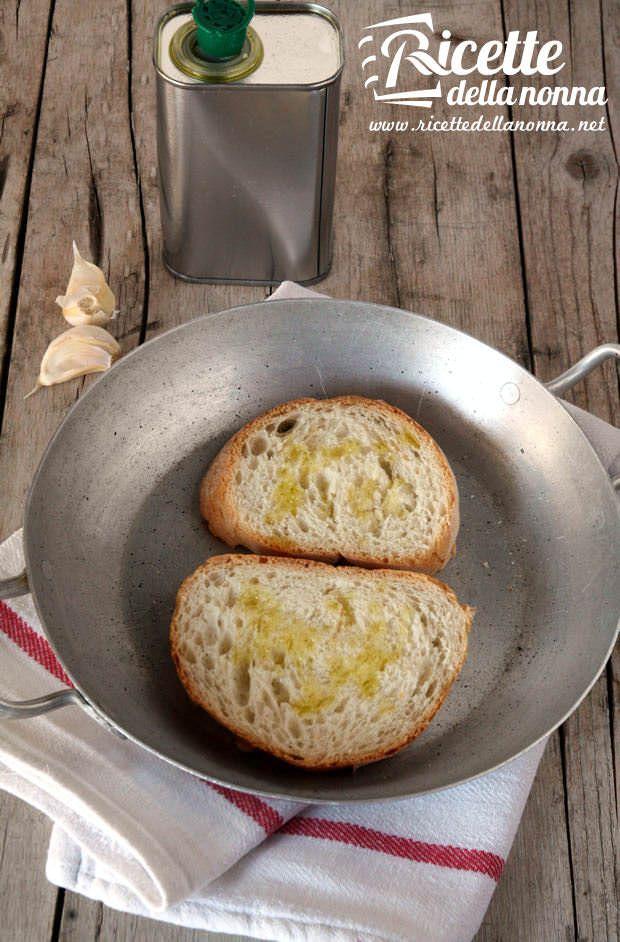 Bruschetta aglio e olio ricetta e foto