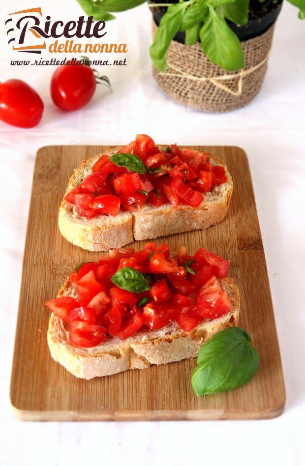 Bruschetta al pomodoro e basilico ricetta e foto