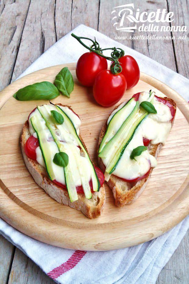 Bruschette rustiche con verdure ricetta e foto