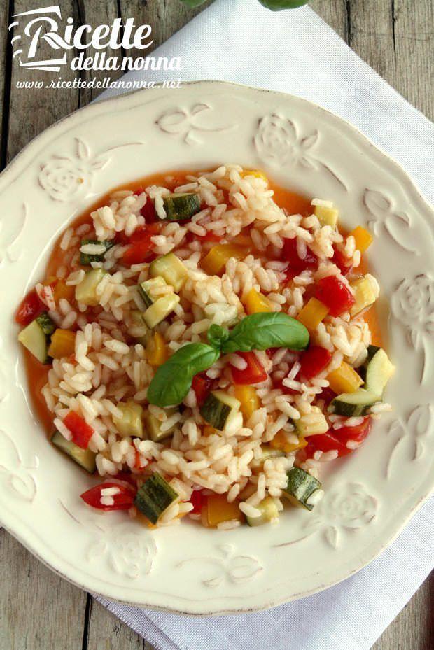 Risotto con zucchine e peperoni ricetta e foto