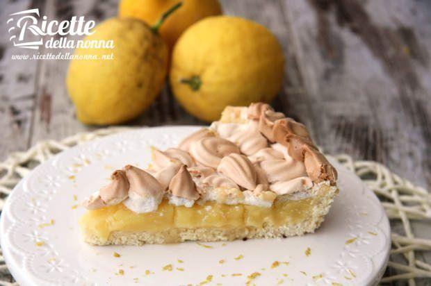 Crostata crema di limone e meringa ricetta e foto
