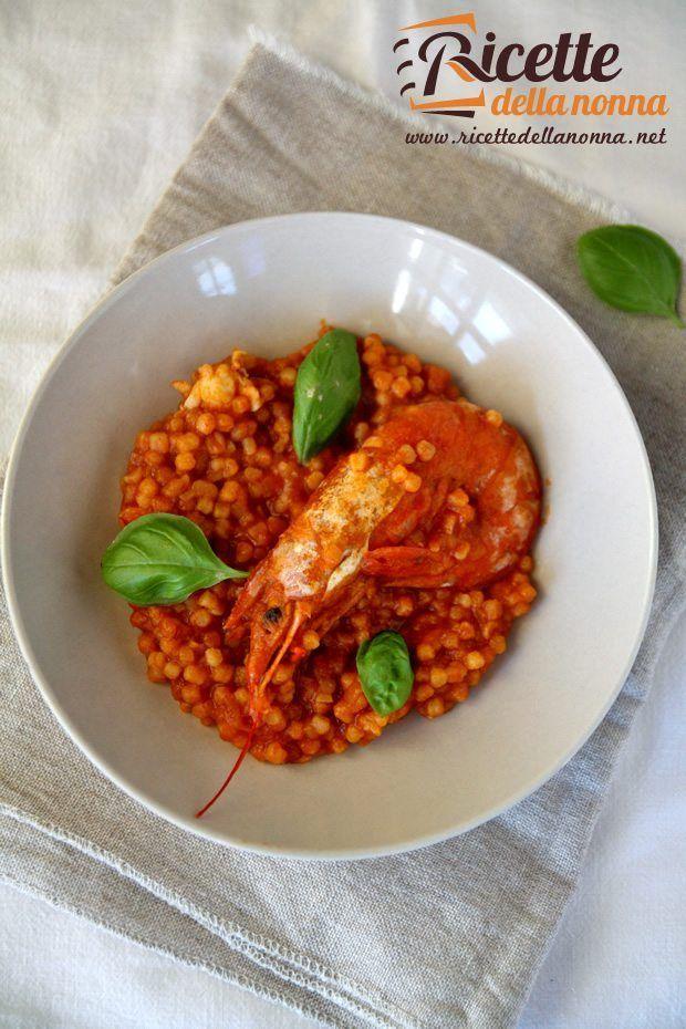 Fregola con gamberi e scampi ricette della nonna for Cucinare scampi