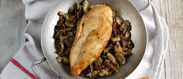 Petti di pollo Marsala e funghi