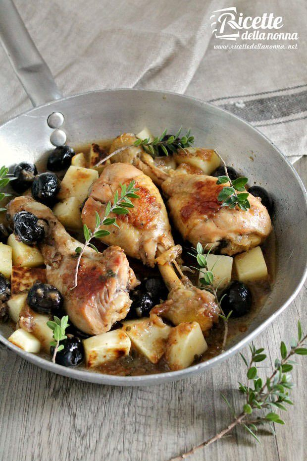 Foto cosce di pollo alle olive e mirto