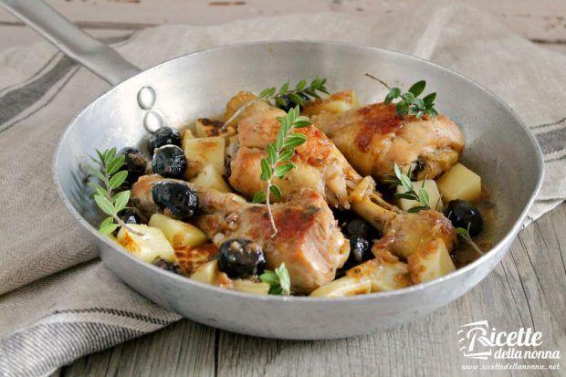 Ricetta cosce di pollo alle olive e mirto