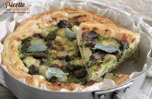 Torta salata con verza e mozzarella