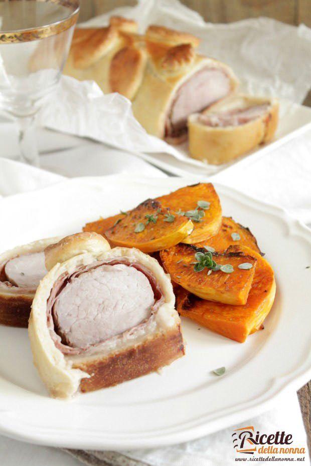 Foto arrosto di maiale in crosta
