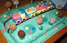 Le torte in pasta di zucchero: Torta Trenino