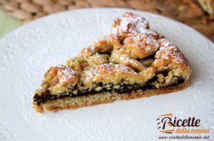 Crostata biscottata con Nocciolata e pere