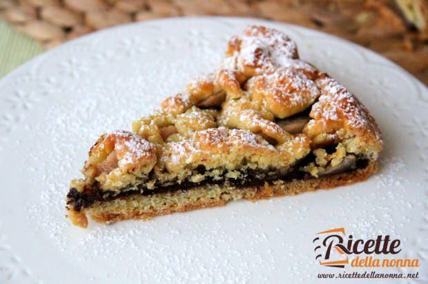 Crostata biscottata Nocciolata e pere