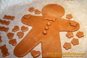 Quinta fase Omini di pan di zenzero (gingerbread cookies)