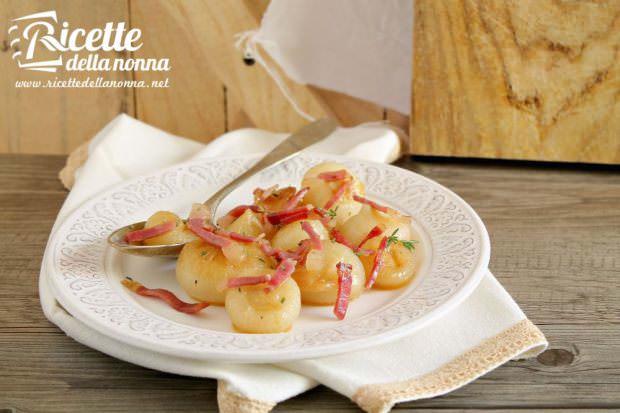 Cipolline arrostite al forno con speck