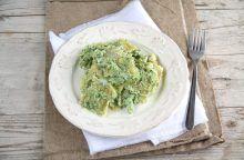 Ravioli di magro in salsa di broccoli