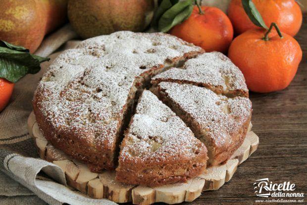 Torta pere e mandarini ricetta e foto
