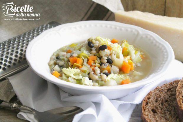 Ricetta zuppa verza e fagioli