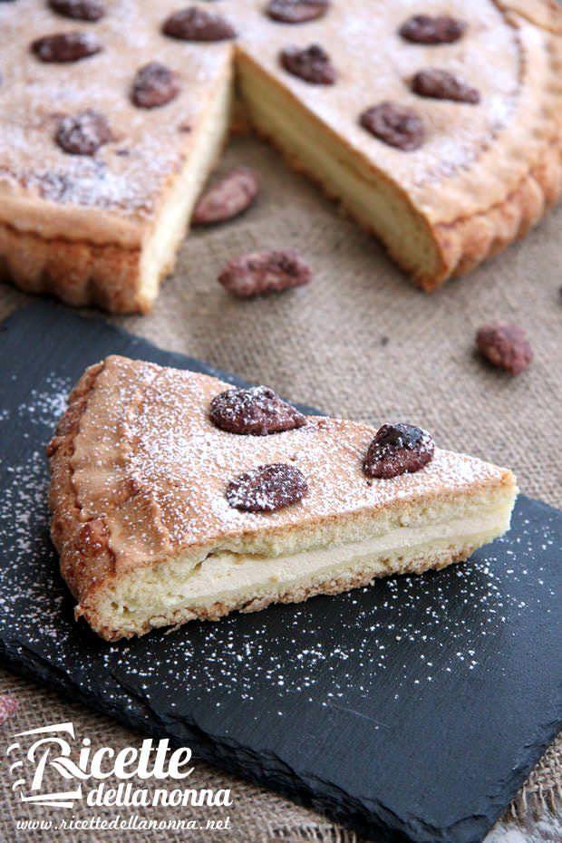 Crostata con ricotta e mandorle zuccherate ricetta e foto