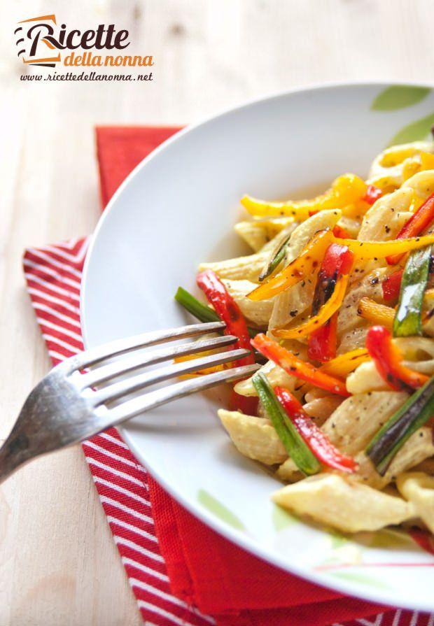 Penne peperoni panna e curry-4 ricetta e foto